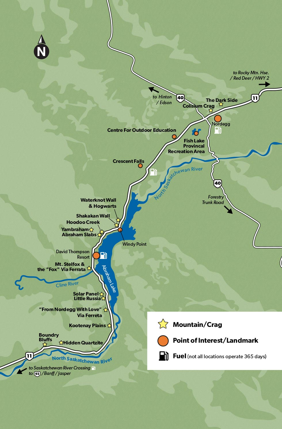 David Thompson Corridor Climbing Area Overview